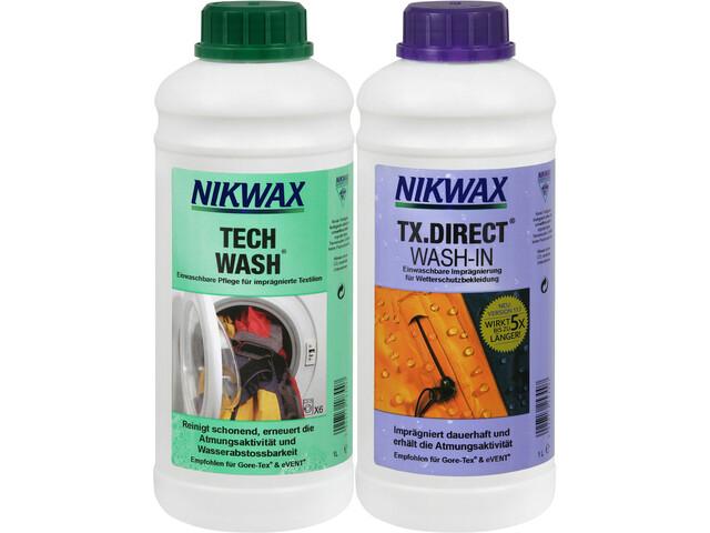 Nikwax Tech Wash + TX.Direct Wash-In 2 x 1l